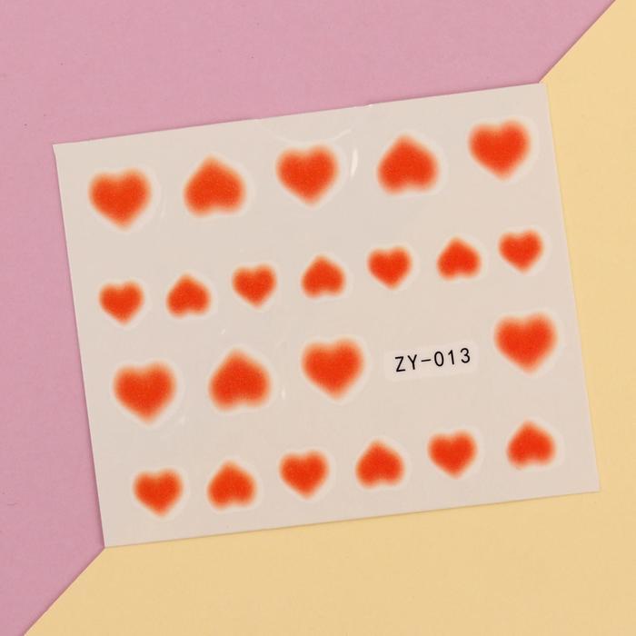 Слайдер-дизайн для ногтей, водный, цвет оранжевый