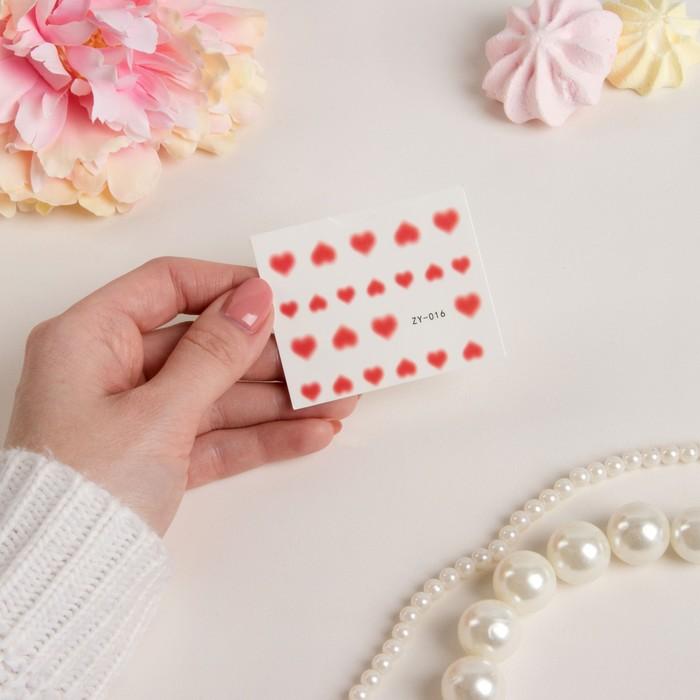 Слайдер-дизайн для ногтей, водный, цвет красный