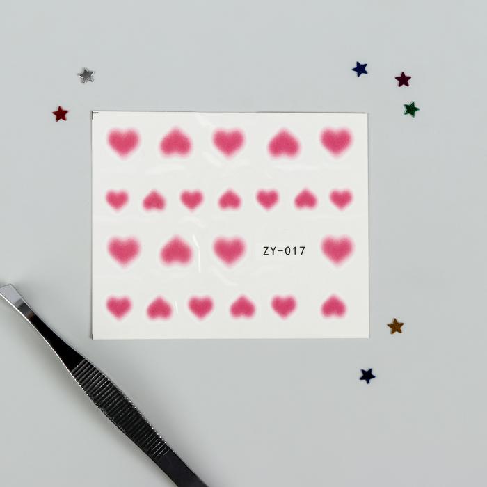 Слайдер-дизайн для ногтей, водный, цвет розовый