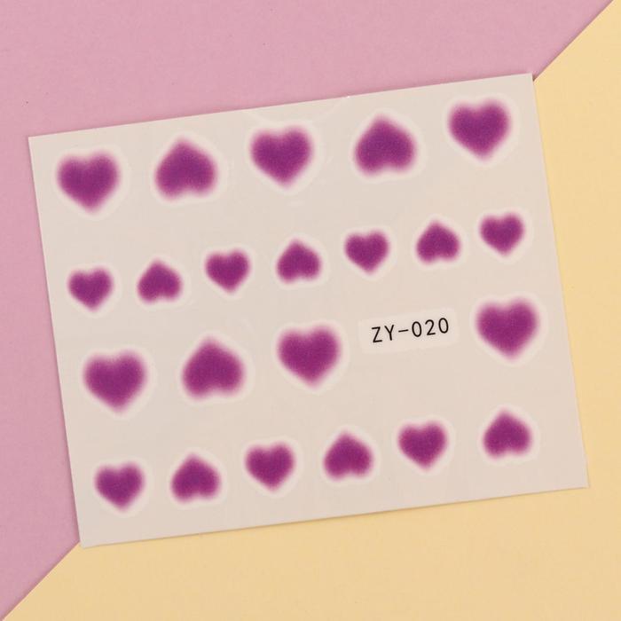 Слайдер-дизайн для ногтей, водный, цвет фиолетовый