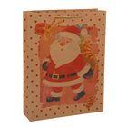 "Пакет крафт ""Дед Мороз"", 23 х 32 х 8,5 см"