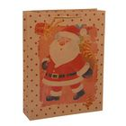 "Пакет крафт ""Дед Мороз"", 31,5 х 41,5 х 9,5 см"