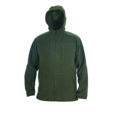 Куртка с капюшоном, флис, хаки, размер 46-48/176