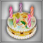 сувенирные свечи с пластиковыми элементами для торта