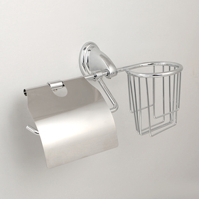 """Держатель для туалетной бумаги с подставкой под освежитель воздуха """"Шарм"""""""