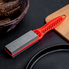 Sharpener for metal knives with handle
