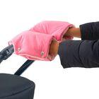 Муфта для рук флисовая, на кнопках, цвет розовый