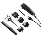 Машинка для стрижки волос Vitek VT-2511 BK, нержавеющая сталь, 4 насадки, черный