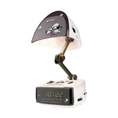 Радиобудильник Vitek VT-3509, кварц, расш. FM, белый