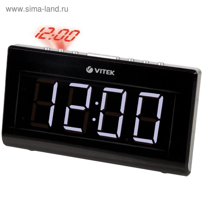 Радиобудильник Vitek VT-3517, кварц, расш. FM, черный