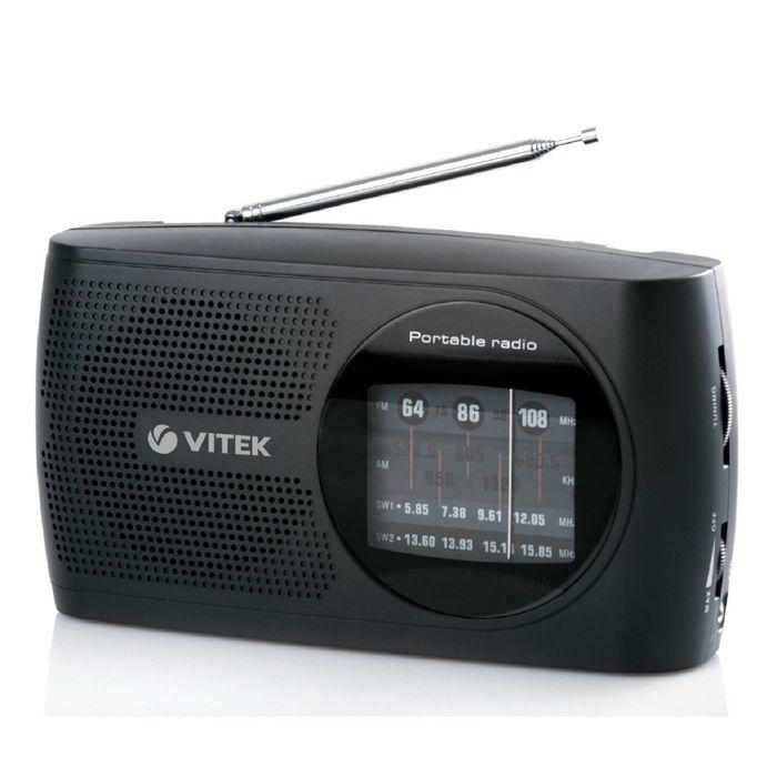 Радиоприёмник Vitek VT-3587, FM AC/DC, черный