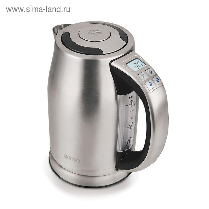 Чайник электрический Vitek VT-1167SR, 2400 Вт, 1.7 л, серебристый