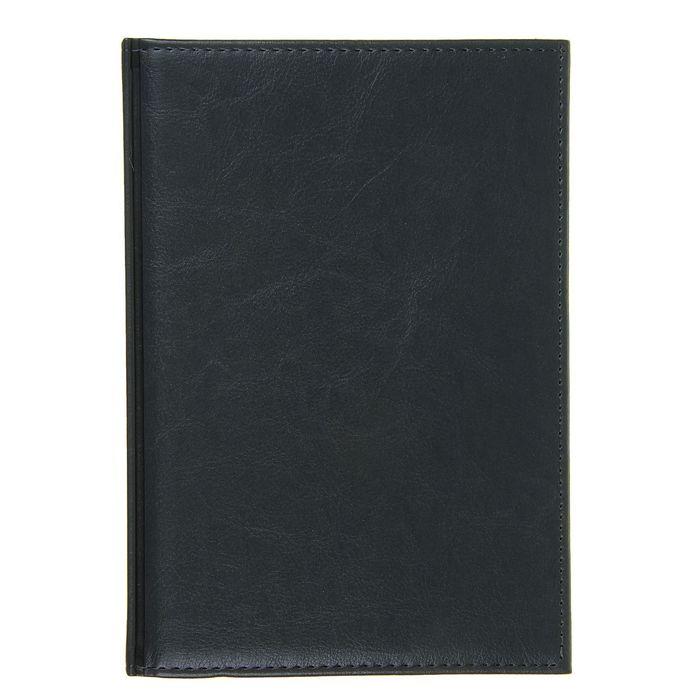 Ежедневник полудатированный, формат А5, 192 листа, линия, золотой срез, перфорированный угол, ляссе, серый