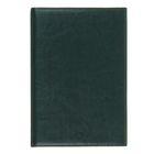 Ежедневник полудатированный,формат А5,193 листа,линия,золотой срез,перфорированный угол,ляссе,темно-зеленый