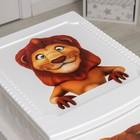 Комод детский 4-х секционный «Декор. Лев», цвет белый - фото 106548433