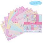 """Набор бумаги для скрапбукинга Me to you """"Время сладостей"""", 12 листов, 15.5 x 15.5 см, 180 г/м²"""