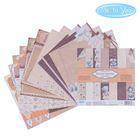 """Набор бумаги для скрапбукинга Me to you """"Теплые чувства"""", 12 листов, 15.5 x 15.5 см, 180 г/м²"""