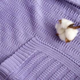 """Вязаный плед """"Этелька"""" размер 70х90 см, цвет лиловый"""