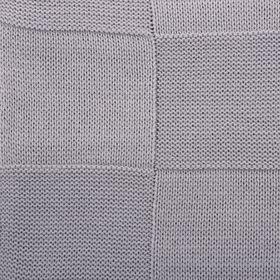 """Вязаный плед """"Этель"""" размер 130х180, цвет серый"""