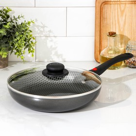 26 cm Forever pan with removable handle, glass lid.