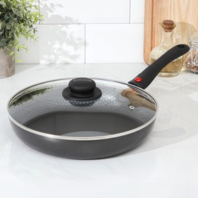 28 cm Forever pan with removable handle, glass lid.