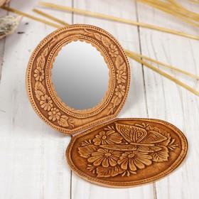 Mirror on hinges, mix, birch