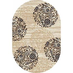 Овальный ковёр Valencia Deluxe d303, 200 х 500 см, цвет cream-brown