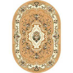 Овальный ковёр Laguna d017, 150 х 300 см, цвет beige
