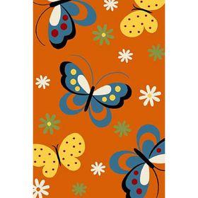 Прямоугольный ковёр Crystal 0772, 120 х 180 см, цвет orange