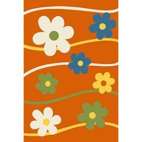 Прямоугольный ковёр Crystal 1021, 80 х 150 см, цвет orange
