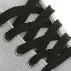 Laces for shoes, flat, 8 mm, 70 cm, color black