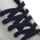 Шнурки для обуви, 8 мм, 80 см, пара, цвет синий