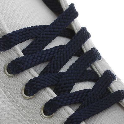 Шнурки для обуви плоские, 8мм, 80см, цвет синий