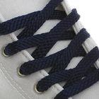 Шнурки для обуви плоские, 8мм, 90см, цвет синий