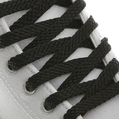 Шнурки для обуви, 8 мм, 100 см, пара, цвет чёрный