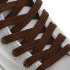 Шнурки для обуви, 8 мм, 120 см, пара, цвет коричневый