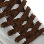 Laces for shoes, flat, 8 mm, 130 cm, pair, brown