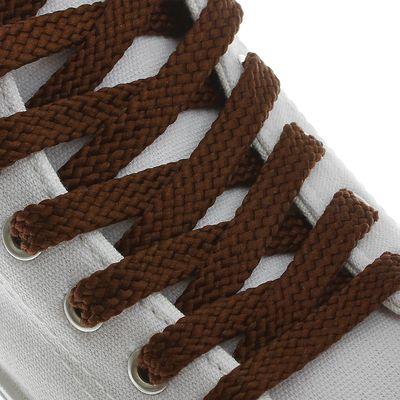 Шнурки для обуви плоские, 8мм, 120см, цвет коричневый
