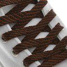 Laces Shoe flat, 8mm, 120cm, black-brown