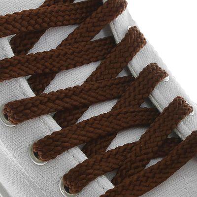 Шнурки для обуви плоские, 8мм, 130см, цвет коричневый