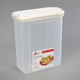 Банка для сыпучих продуктов с дозатором 1,5 л Krupa, цвет МИКС