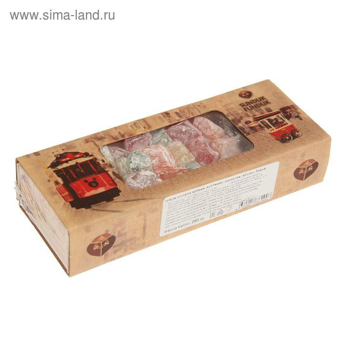 Лукум ассорти кубики (клубника, апельсин, яблоко, банан) ТМ Sunduk Funduk 200 гр