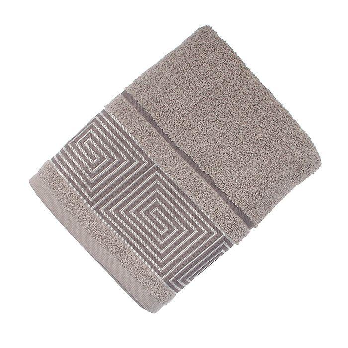 Полотенце махровое Fiesta Kvadrro, размер 50х90 см, цвет серый, 380 г/м2