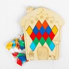 "Мозаика ""Домик"", 36 ромбиков в комплекте, ромб: 4,2 × 2,6 см"