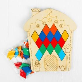 Мозаика «Домик», 36 ромбиков в комплекте, ромб: 4,2 × 2,6 см