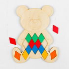 Мозаика «Мишка», 36 ромбов: 4,2 × 2,6 см - фото 1040657
