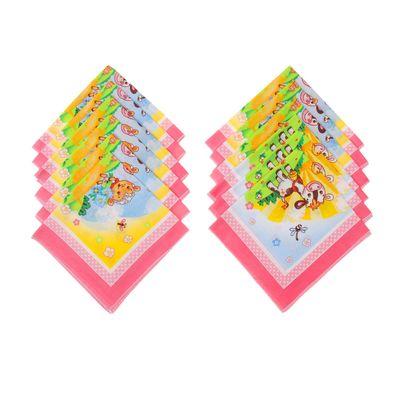 """Набор детских носовых платков """"Этель"""", размер 30х30 см - 12 шт., цвет розовый, рис. МИКС"""
