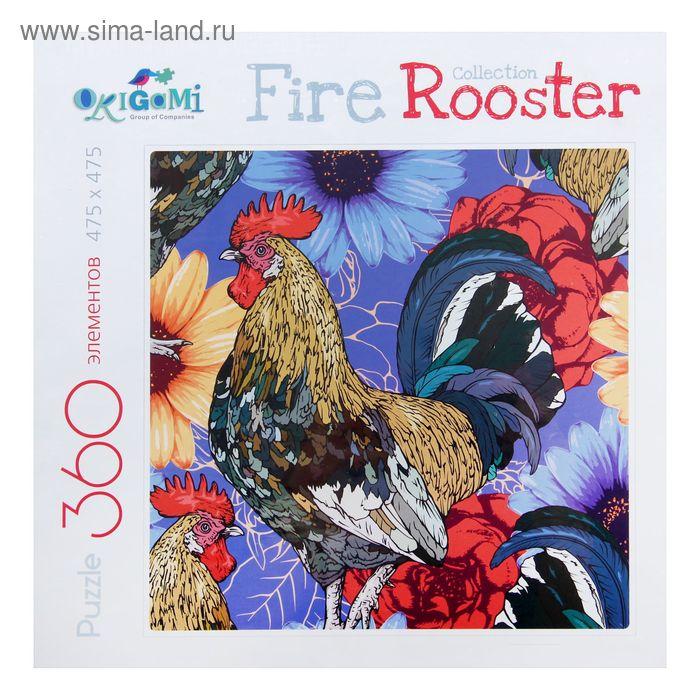Пазл «FireRooster. Акварельные петухи», 360 элиментов