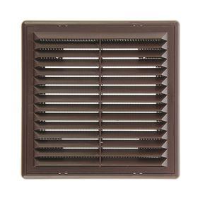 Решетка вентиляционная ERA 1515 Р, 150x150 мм, коричневая