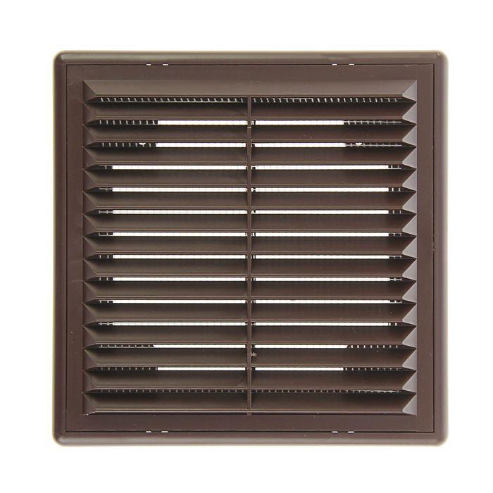 """Решетка накладная """"Эковент"""" 1515 Р, 150x150 мм, цвет коричневый"""